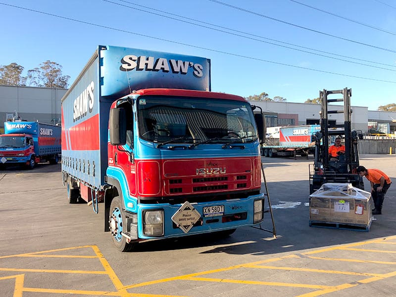 Interstate Pallet Transport Services - Shaw's Darwin car transport express transport company freight companies